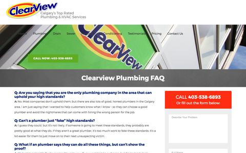 Questions and Answers | ClearView Plumbing