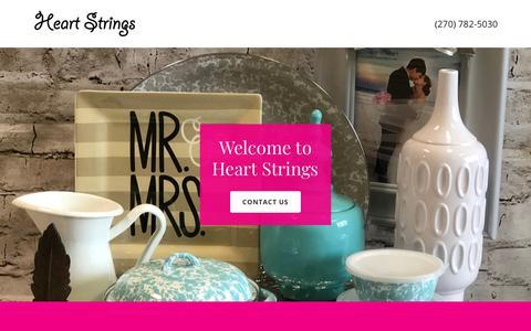 Screenshot of Home Page heartstringsbg.com - Heart Strings - captured Sept. 27, 2018
