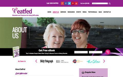 Screenshot of About Page eatfed.com.au - About EatFed - captured Jan. 22, 2016
