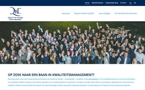 Screenshot of Jobs Page qbd.eu - Op zoek naar een job in kwaliteitsmanagement? - captured Nov. 4, 2018