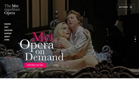Screenshot of Trial Page metopera.org - Met Opera on Demand - captured Aug. 27, 2016