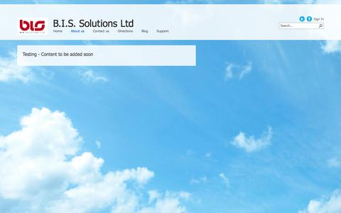 Screenshot of About Page bissolutions.co.uk - About us - captured Oct. 2, 2014