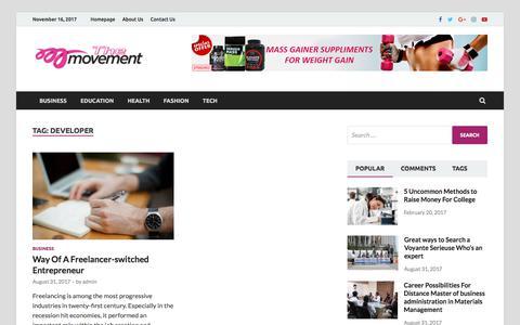 Screenshot of Developers Page themovement.info - developer – The Movement - captured Nov. 16, 2017