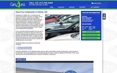 Screenshot of About Page cars4.com - Olathe, KS | About Us - captured Oct. 2, 2014