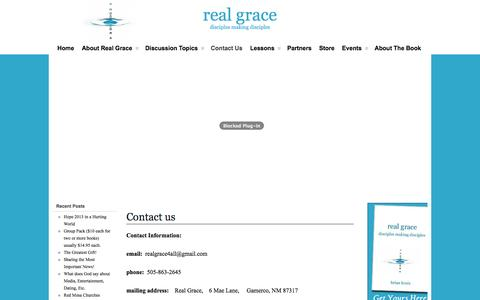 Screenshot of Contact Page realgrace.org - Contact us   Real Grace - captured Oct. 26, 2014