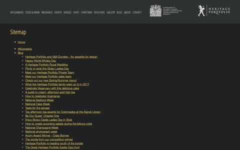 Screenshot of Site Map Page heritageportfolio.co.uk - Sitemap :: Heritage Portfolio - captured Sept. 28, 2018