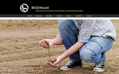 Screenshot of Services Page biodinami.com - | Services - captured Nov. 22, 2016