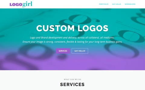 Screenshot of Home Page logogirl.com.au - Logo Girl – Because it starts with a Logo. - captured July 22, 2018