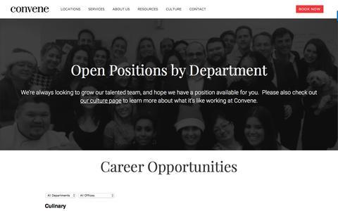 Screenshot of Jobs Page convene.com - Career Opportunities at Convene - captured June 3, 2017