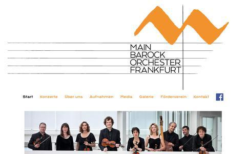 Screenshot of Home Page main-barockorchester.de - Start :: Main Barock Orchester - captured June 13, 2018