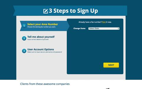 Screenshot of Signup Page Trial Page utbox.net - Sign up for a Free Internet Fax Account | UTBox Fax - captured Oct. 26, 2014