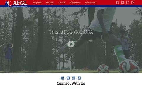 Screenshot of Login Page afgl.us - American FootGolf League - captured Nov. 2, 2014
