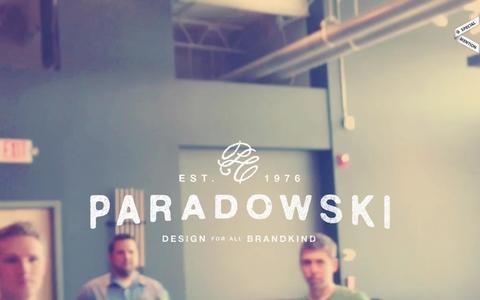 Screenshot of Home Page paradowski.com - Paradowski Creative - captured Feb. 15, 2016