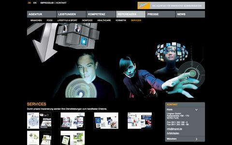Screenshot of Services Page lingner.de - Services - captured Oct. 8, 2014