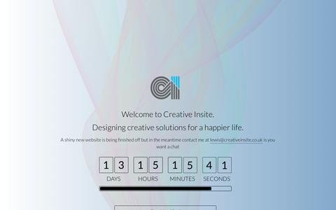 Screenshot of Home Page creativeinsite.co.uk - Creative Insite - Design in Kent - captured May 22, 2017
