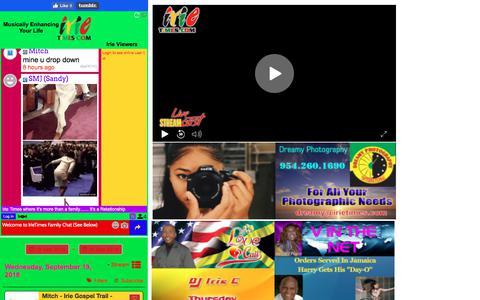 Screenshot of Home Page irietimes.com - Irietimes - captured Sept. 19, 2018