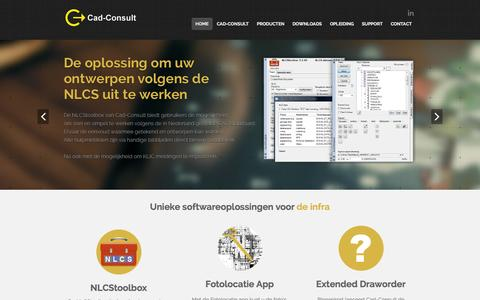 Screenshot of Home Page cad-consult.nl - Cad-Consult - Specifieke software oplossingen voor infraCad-Consult - captured Sept. 26, 2014