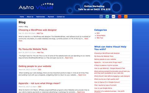 Screenshot of Blog astrovisual.com.au - Blog - captured Sept. 30, 2014