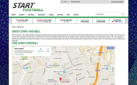 Screenshot of About Page startfootball.co.uk - About Us | Start Football - captured Jan. 13, 2016
