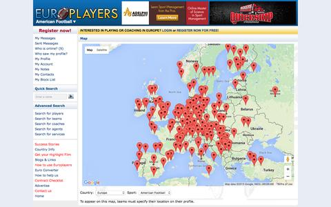 Screenshot of Maps & Directions Page europlayers.com - Europlayers - captured Dec. 12, 2015