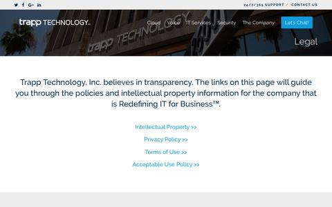 Legal | Trapp Technology