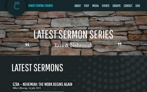 Screenshot of Press Page christcentralchurch.org.uk - Christ Central Church | Penge, London » Latest Sermons - captured July 17, 2018