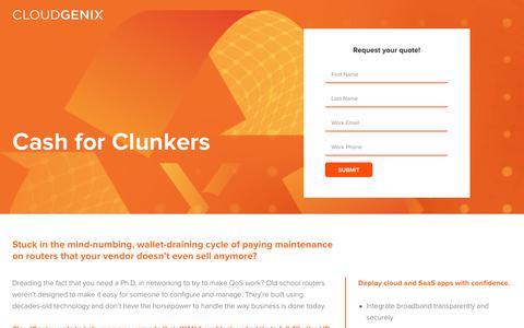 Screenshot of Landing Page cloudgenix.com captured April 1, 2018
