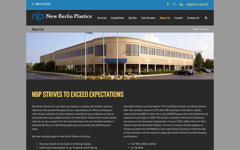 Screenshot of About Page nbplastics.com - Plastic Injection Molding Company | New Berlin Plastics - captured Feb. 14, 2016