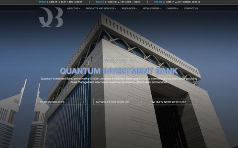 Screenshot of Home Page quantumib.com - Home - Quantum Investment Bank - captured Oct. 3, 2014