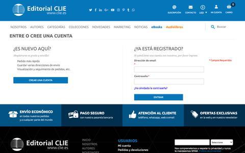 Screenshot of Login Page clie.es - Clie - captured Sept. 27, 2018