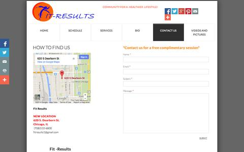 Screenshot of Privacy Page Contact Page fitresults.net - Contact Us: set-up Fitness Program, Personal Training, Bootcamps - captured Oct. 23, 2014