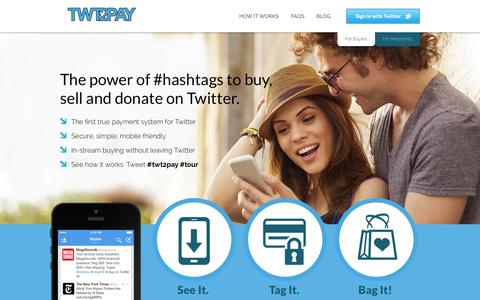 Screenshot of Privacy Page twt2pay.com - Buy with the power of a #hashtag | TWT2PAY - captured Sept. 26, 2014