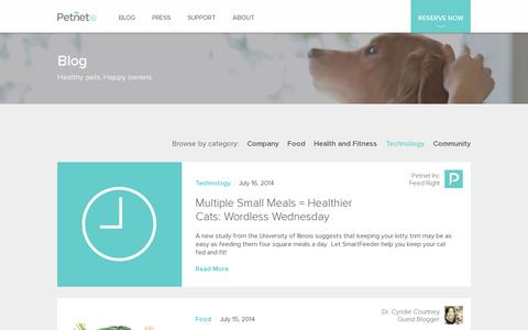 Screenshot of Blog petnet.io - Petnet | Blog - captured July 19, 2014