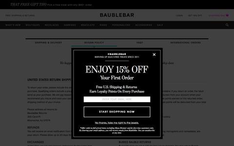 Return Policy | BaubleBar