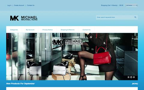 Screenshot of Home Page mkelectricalplumbing.com - Michael Kors Outlet | Discount Bags, Handbags, Watches Sale Up To 65% Off - captured Sept. 25, 2017