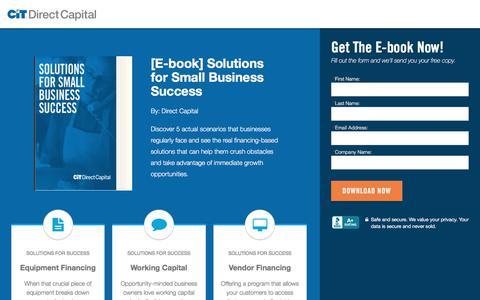 Screenshot of Landing Page directcapital.com captured Oct. 24, 2017