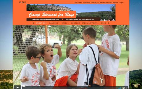 Screenshot of About Page campstewart.com - Future Campers — Camp Stewart for Boys - captured July 14, 2017