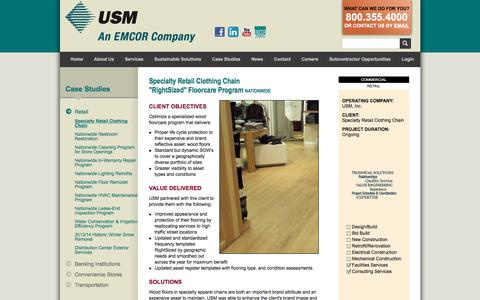 Screenshot of Case Studies Page usmservices.com - Commercial Janitorial Services & Property Management Services | USM - captured Nov. 10, 2017