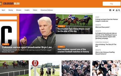 Screenshot of Blog colossusbets.com - Colossus Betting Blog - Big Jackpot pool previews & sport news - captured Aug. 17, 2019