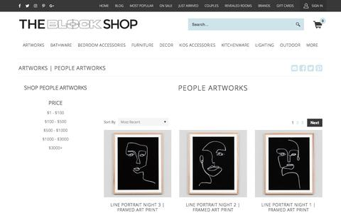 Screenshot of Team Page theblockshop.com.au - People Artworks - Exclusive Range By The Block Shop | The Block Shop - captured Sept. 22, 2018