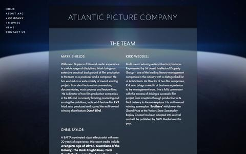 Screenshot of Team Page atlanticpicturecompany.com - The Team — ATLANTIC PICTURE COMPANY - captured Feb. 6, 2016