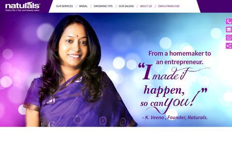 Naturals Salon Franchise Enquire| Naturals Beauty Salon Franchise in India
