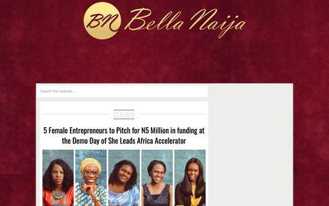 Screenshot of Press Page bellanaija.com - Latest on News - . Read on BellaNaija - November 7, 2018 - captured Nov. 7, 2018