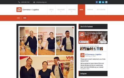 Screenshot of Press Page idcomlog.com - News - iD Commerce + Logistics - captured Oct. 20, 2016