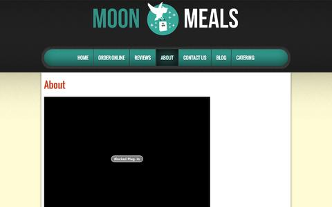 Screenshot of About Page moonmeals.com - About | Moon Meals - captured Oct. 29, 2014