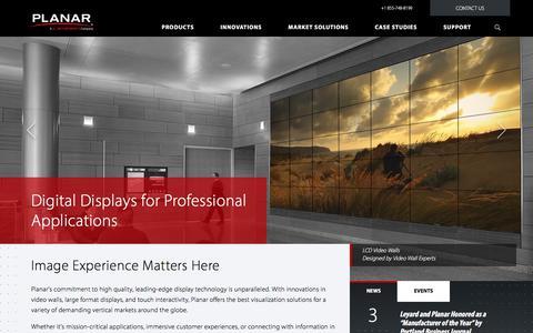 Screenshot of Home Page planar.com - Digital Displays & Signage Solutions | Planar - captured Nov. 7, 2017