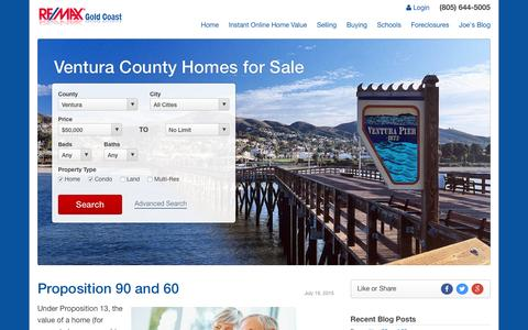 Screenshot of Blog ventura-county-relocation.com - Ventura County Real Estate Information and much more... - captured March 16, 2016
