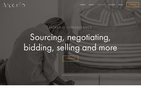 Screenshot of Services Page artkurio.com - Services — Artkurio Consultancy - captured May 8, 2016