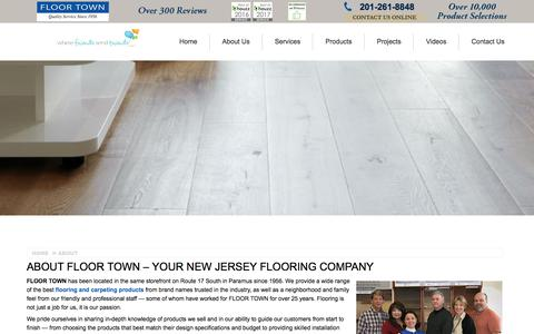 Screenshot of About Page floor-town.com - About Your New Jersey Flooring Company | Floor Town` - captured Aug. 9, 2018