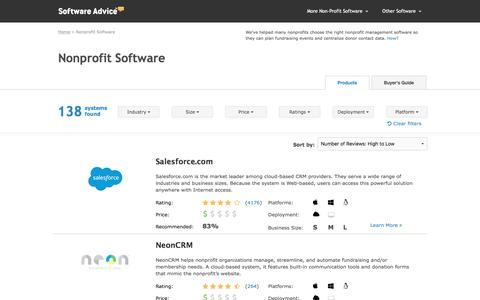 Top Nonprofit Software - 2017 Reviews, Pricing & Demos